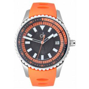 Bracelet de montre Calvin Klein K32112 Caoutchouc Orange