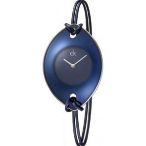 Bracelet de montre Calvin Klein K33237 Cuir/Textile Bleu