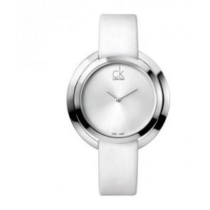 Bracelet de montre Calvin Klein K3U231 Cuir Blanc