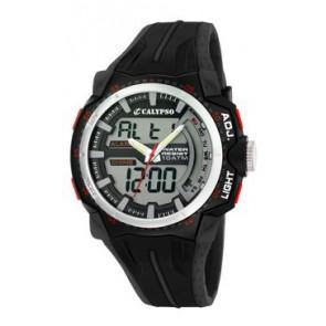 Bracelet de montre Calypso K5539-1 Caoutchouc Noir