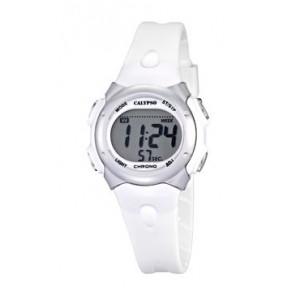Bracelet de montre Calypso K5609-1 Caoutchouc Blanc