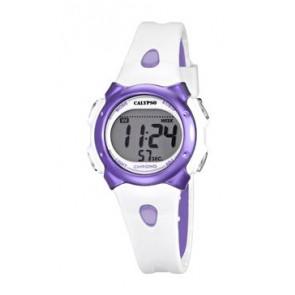 Bracelet de montre Calypso K5609-2 Caoutchouc Blanc