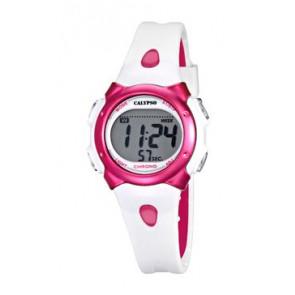 Bracelet de montre Calypso K5609-3 Caoutchouc Blanc