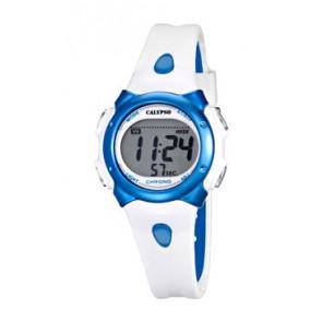 Bracelet de montre Calypso K5609-4 Caoutchouc Blanc