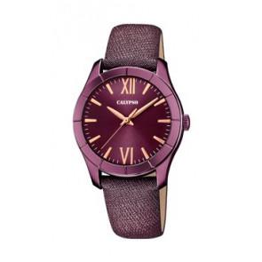 Bracelet de montre Calypso K5718/5 Cuir Pourpre 17mm