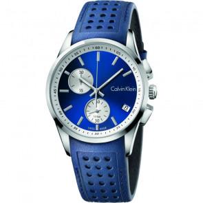 Bracelet de montre Calvin Klein K600.000.258 / K5A371VN Cuir Bleu