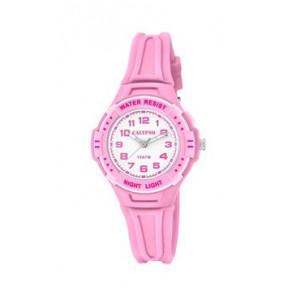 Bracelet de montre Calypso K6070-1 Caoutchouc Rose