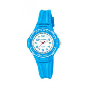 Bracelet de montre Calypso K6070-3 Caoutchouc Bleu