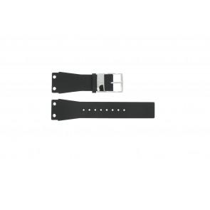 Bracelet de montre K7547100 / K600060218 Cuir/Plastique Noir 25mm