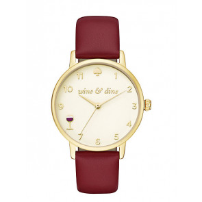 Kate Spade New York bracelet de montre KSW1188 / METRO Cuir Rouge