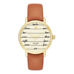 Bracelet de montre Kate Spade New York KSW1237 Cuir Brun 16mm