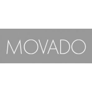 Bracelet de montre Movado 84.G4.875.3801676 / CAL-18/14-WHI / Loc VIM-81 Cuir Blanc crème / Beige 15mm