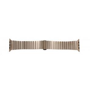 Apple (modèle de remplacement) bracelet de montre LS-AB-107 Métal Or (rosée) 42mm