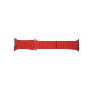 Apple (modèle de remplacement) bracelet de montre LS-AB-110 Cuir Rouge 42mm