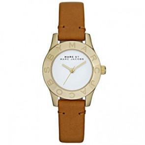 Bracelet de montre Marc by Marc Jacobs MBM1219 Cuir Brun