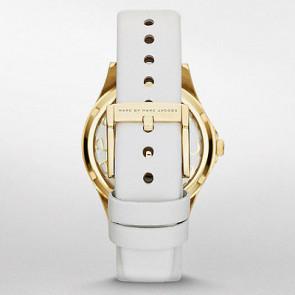 Marc by Marc Jacobs bracelet de montre MBM1339 Cuir Blanc 16mm