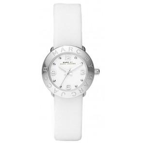 Bracelet de montre Marc by Marc Jacobs MBM8553 Cuir Blanc 15mm