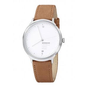 Bracelet de montre Mondaine MH1.L2210.LG MB20121 / MB20121 Cuir Brun clair 18mm