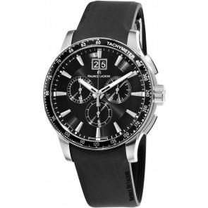 Bracelet de montre Maurice Lacroix MI1098 / AQ60872 / ML640-000020 Silicone Noir 18mm