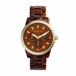 Bracelet de montre Michael Kors MK5038 Plastique Brun