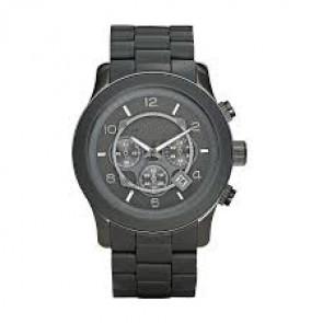 Bracelet de montre Michael Kors MK8148 Acier/Silicone Gris anthracite 24mm