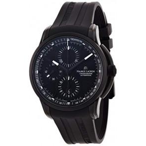 Bracelet de montre Maurice Lacroix PT6188 / ML640-000027 Caoutchouc Noir