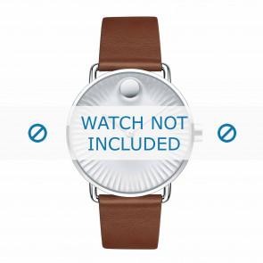 Movado bracelet de montre 3680038 Cuir Cognac 20mm