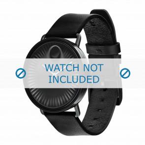 Movado bracelet de montre 3680039 Cuir Noir 20mm