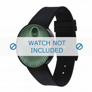 Movado bracelet de montre 3680041 Silicone Noir 22mm