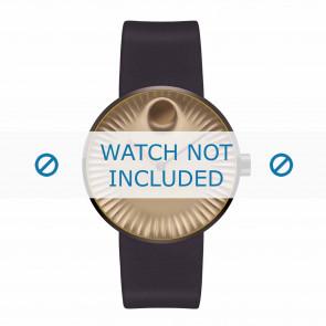 Movado bracelet de montre 3680043 Silicone Brun foncé 22mm