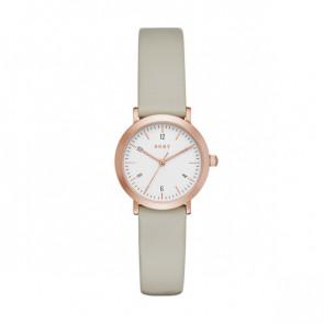 Bracelet de montre DKNY NY2514 Cuir Taupe 14mm