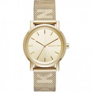 Bracelet de montre DKNY NY2621 Acier Plaqué or 18mm