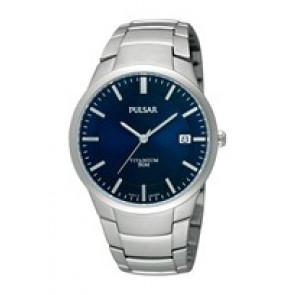Bracelet de montre Pulsar VJ42 X021 / PS9009X1 / PS9011X1 / PS9013X1 / PH280X Titane Gris