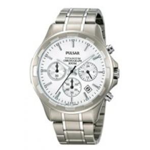 Bracelet de montre Pulsar VD53-X064 / PT3211X1 Titane Gris 20mm