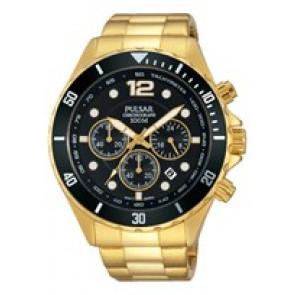 Bracelet de montre Pulsar PT3720X1 Acier Plaqué or 22mm