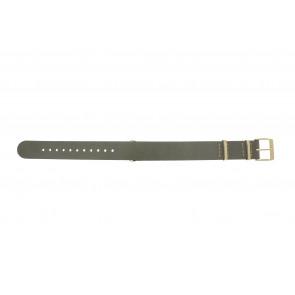 Timex bracelet de montre PW2P98500 Cuir Taupe 18mm + coutures de beige