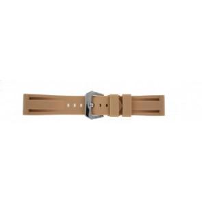 Panerai style bracelet de montre silicone beige 24mm
