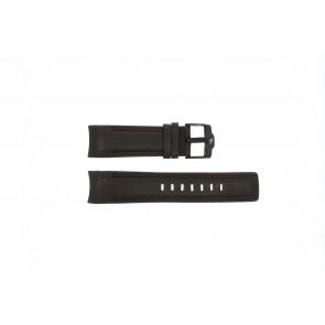 Rip Curl bracelet de montre DBR24DBR Cuir Brun foncé 24mm + coutures brunes