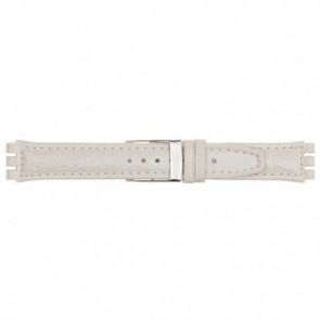 Bracelet de montre Universel 247.20M Cuir Blanc 19mm