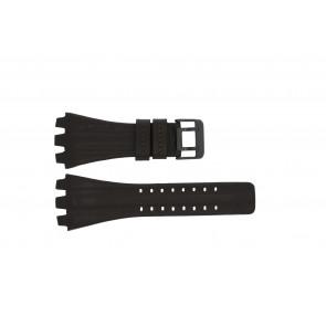 Police bracelet de montre 12079BR / 12079JSB/05A / 12079JS-02  Cuir Brun foncé 36mm