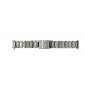 Bracelet de montre QQ22RHSHI Métal Argent 22mm