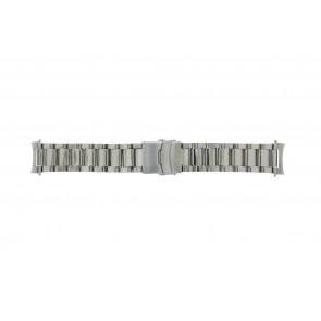 Bracelet de montre QQ22STROU Métal Argent 22mm