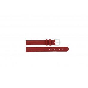Q&Q bracelet de montre QQ12LDRGS Cuir Rouge 12mm + coutures  rouges