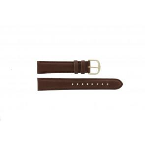Q&Q bracelet de montre QQ18LDBG-GD Cuir Brun 18mm + coutures brunes