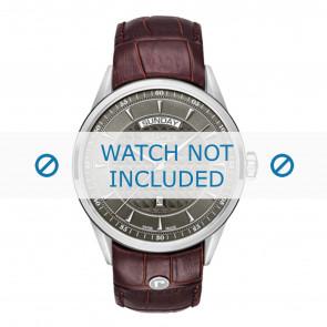 Roamer bracelet de montre 508293-41-05-05 Cuir Brun 22mm + coutures défaut