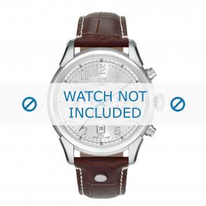 Roamer bracelet de montre 540951-41-16-05 Cuir Brun 22mm + coutures blanches