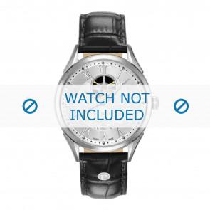 Roamer bracelet de montre 550661-41-22-05 Cuir Noir 18mm + coutures défaut