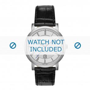 Roamer bracelet de montre 709856-41-12-07 Cuir Noir 20mm + coutures défaut