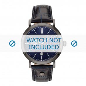 Roamer bracelet de montre 936950-40-45-09 Cuir Bleu 22mm + coutures défaut