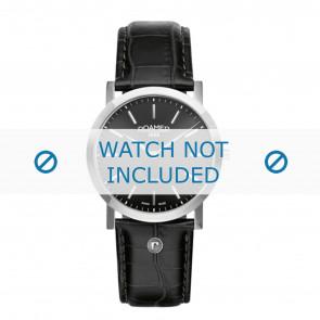 Roamer bracelet de montre 937830-41-50-09 Cuir Noir 22mm + coutures défaut